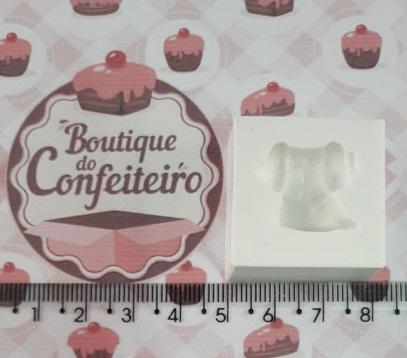 3a1c26290 Molde de silicone Vestido Minnie pequeno - MZL - Boutique do Confeiteiro